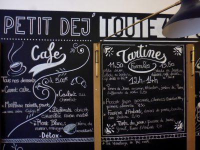 Enseigne coffee shop - Ardoise murale intérieure - lettrages