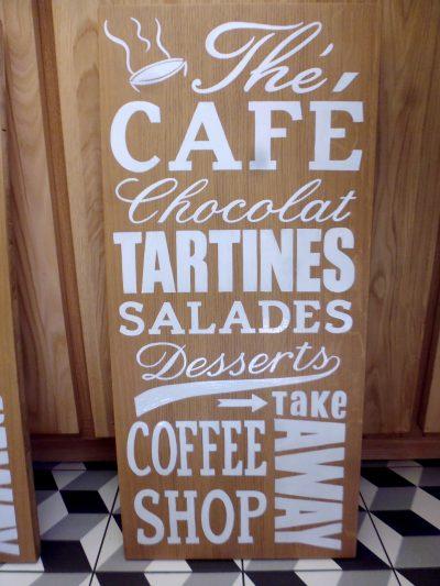 Enseigne coffee shop - Menu décoratif pour la vitrine extérieure